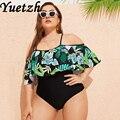 Женский слитный купальник, комплект для плавания большого размера, пляжная одежда большого размера, пляжная одежда, 2020
