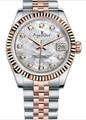 Роскошные брендовые новые сапфировые часы из нержавеющей стали, женские Автоматические механические часы с бриллиантами, серебристые, зол...