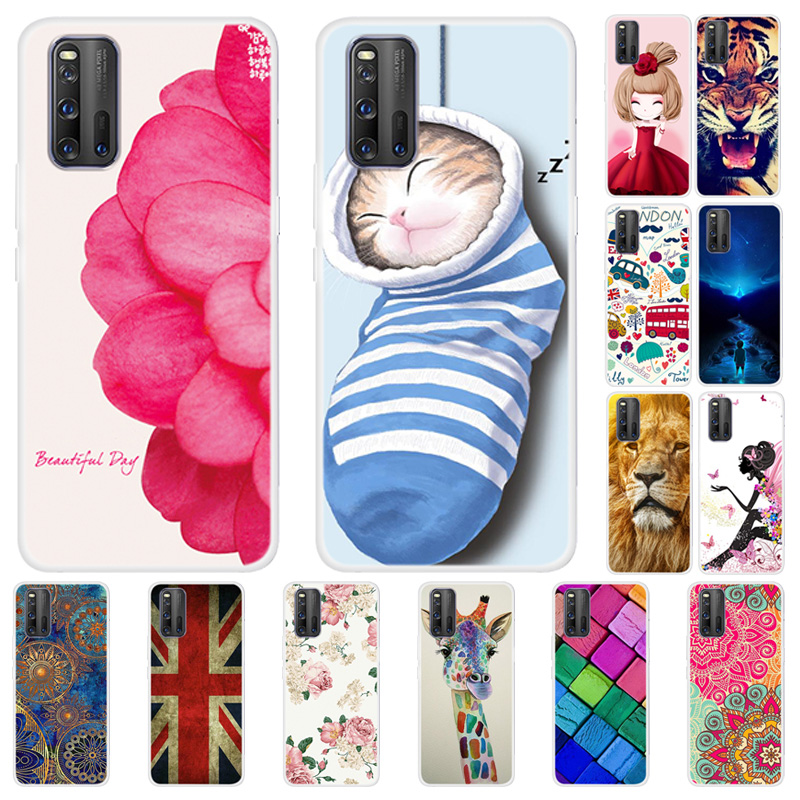 For Vivo Iqoo 3 5G Case Flower Silicone Phone Cover For Vivo Iqoo Neo Cases TPU Soft Back Fundas For Vivo Iqoo3 Cute Protective