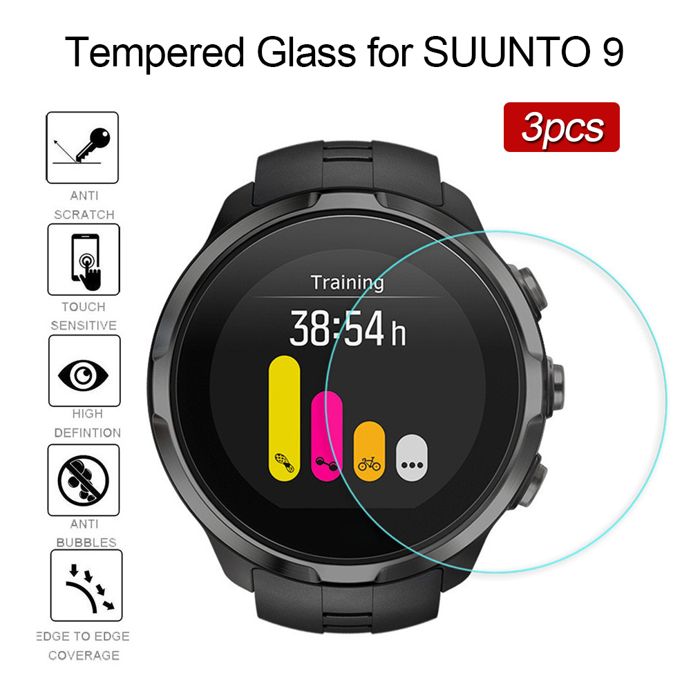 3PCS Tempered Glass On For SUUNTO 9 Screen Protector Film Smart Watch Protect Film 9h Glas Ultra Thin Protector De Pantalla