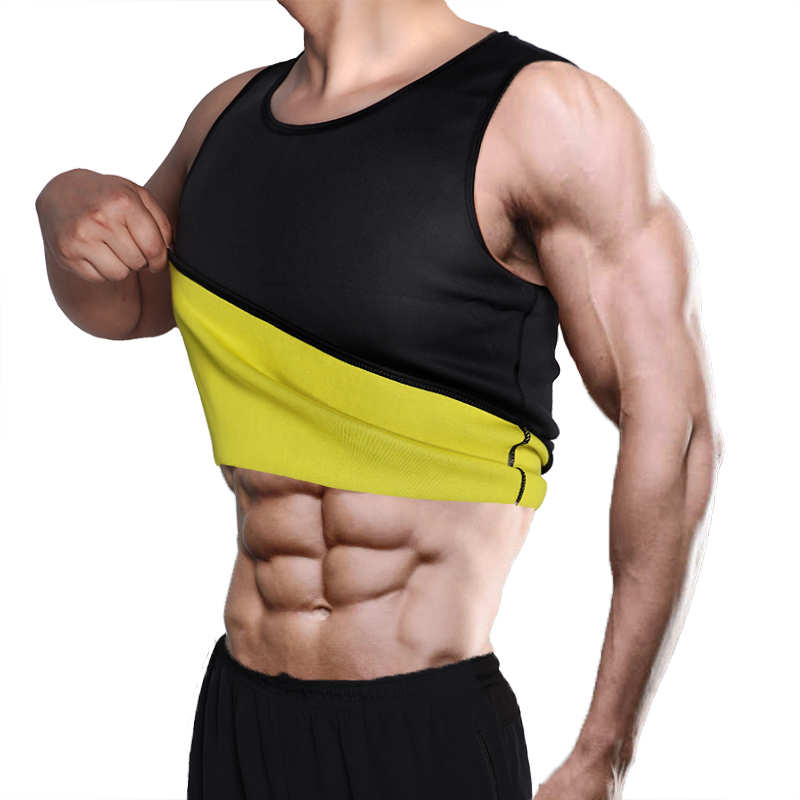 Men's Sweat Vest Body Shaper Shirt Thermo Slimming Sauna Suit Weight Loss Black Shapewear Ultra Neoprene Waist Trainer