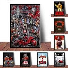 Posteri ve baskılar Akira kırmızı mücadele japonya Anime Comic film tuval sanat yağlıboya duvar resimleri için oturma odası ev dekor