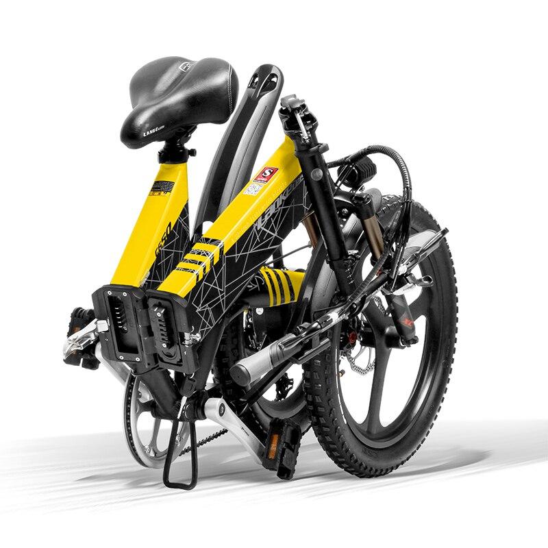 full LANKELEISI Foldable electric bike G650 suspension 7 Speeds 48V 400W Motor 13AH Battery 6