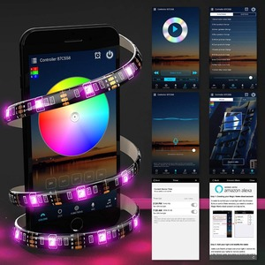 Image 4 - WIFI LED Strip RGB เทปไดโอดเชือกยืดหยุ่น 5M 10M 15M แถบกันน้ำ Google Home WIFI LED 12V