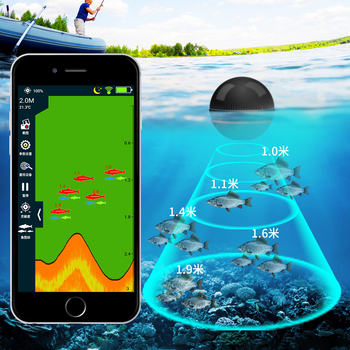 Erchang XA02 Fishing Echo Sounder In Russian For Android 48M/118ft Depth Portable Wireless  Sonar Fish Finder Android цена 2017
