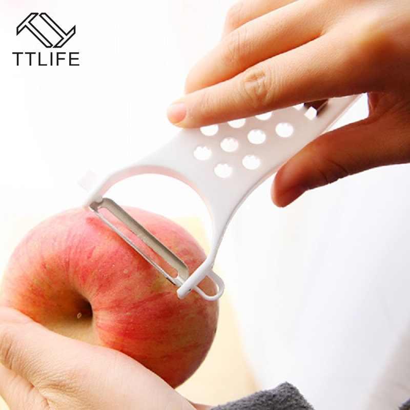 TTLIFE חדש רב-פונקציה מנדולינה ירקות מבצע קאטר ופר גזר מלפפון קולפן מתגלגל מטבח גאדג 'ט Cozinha Biscoi
