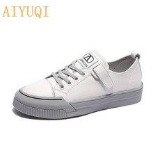 AIYUQI Women Shoes White Spring 2020 New Flat Shoes