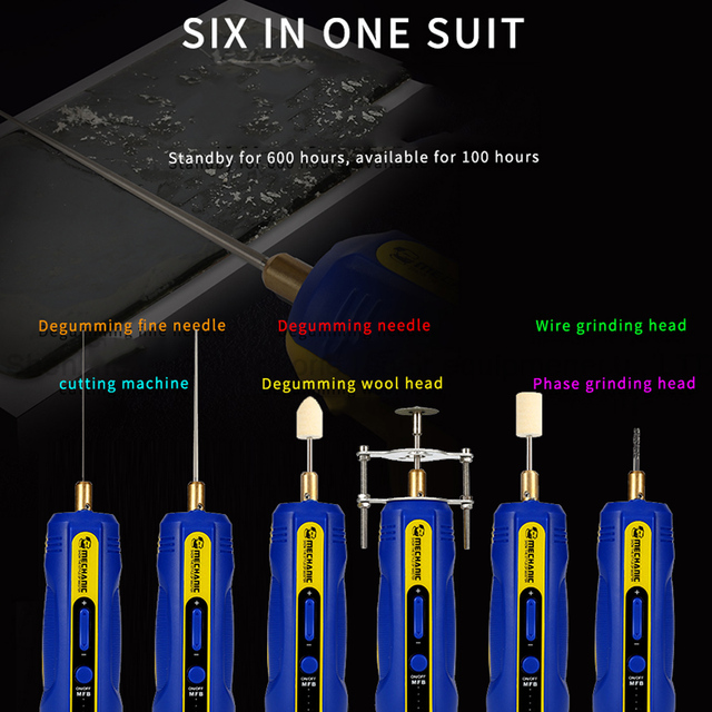 מכונאי IR10 פרו OCA טלפון LCD מסך Degumming שובל דבק כלי סט מתכוונן מהירות דבק להסיר עט מטחנת גומי מפריד