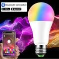 Smart Bluetooth светодиодный светильник лампы E27 B22 110V 220V Светодиодный точечный светильник 5W 10W 15W RGB/RGBW/RGBWW волшебная лампа + ИК-пульта ДУ или Bluetooth