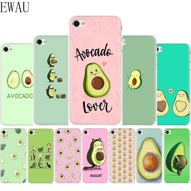 EWAU lovely fruit avocado Cute Soft Silicone Mattle phone cover case for iphone 5 5s SE 6 6s 7 8 plus X XR XS Max 11 Pro Max