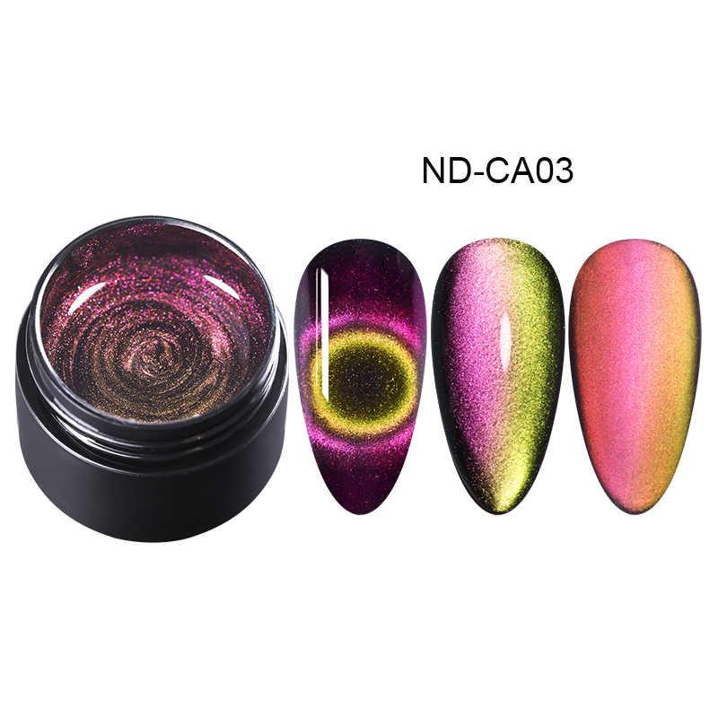 NICOLE DIARIO 9D Occhio di Gatto Magnetica Stamping Gel Polacco di Chiodo UV Del Polacco del Gel Brillante Laser Soak Off Unghie Artistiche Timbro Piatti gel per unghie
