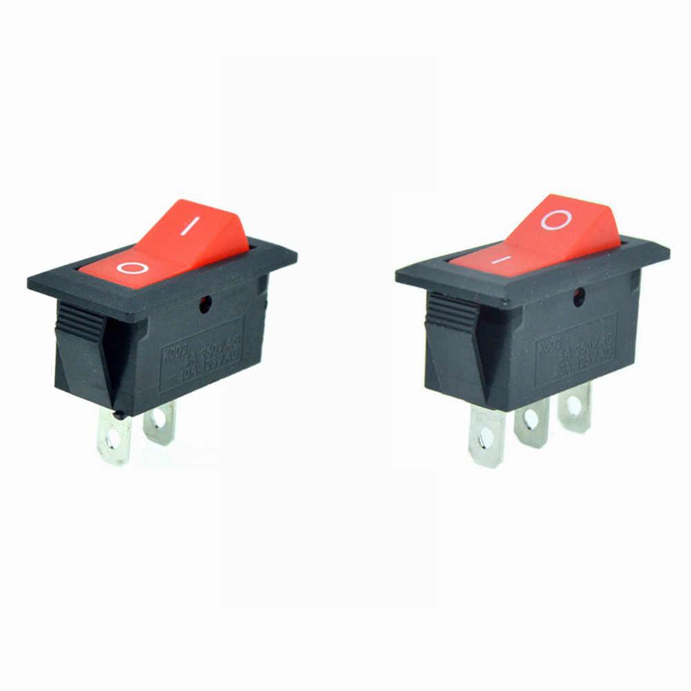 Rote Taste Auto Rocker Boat Schalter 12V 2 Position 2 Pin I/O AUF/OFF 3 Pin AUF/AUF 28X13mm Snap-in Panel Mount 6A 250VAC/10A 125VAC