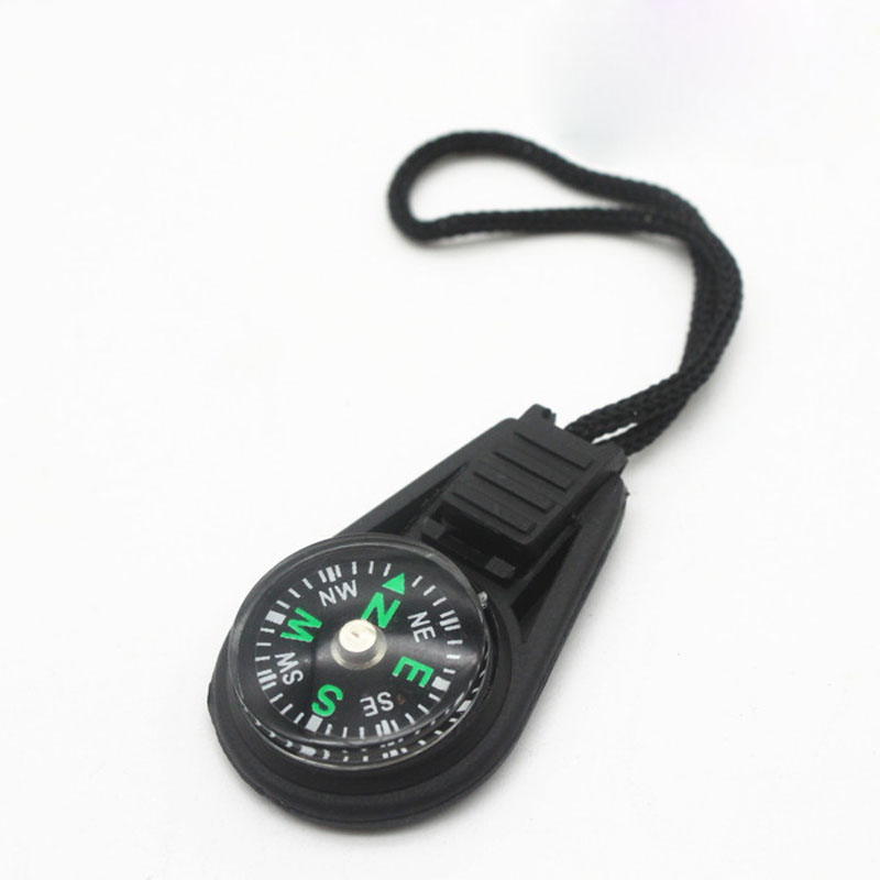 1PC Portable Mini Compass Survival Practical Guider With Keychain For Outdoor Camping Hiking North Navigation Hunting