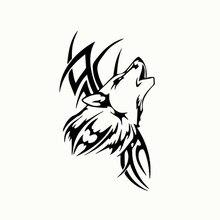Wavehands animal lobo decalque do vinil adesivo de carro arte dos desenhos animados padrão engraçado estilo do carro decalque para a janela automóvel decoração da motocicleta