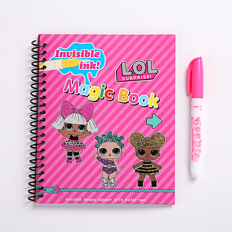Original LOL Surprise Dolls Water Painting Drawing Toys Graffiti Action Figure Watercolour Magic Book For Girls Birthday Gifts
