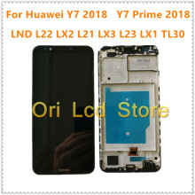 Für Huawei Y7 2018 LCD y7prime 2018 y7pro 2018 display touchscreen mit rahmen ldn-lx1 ldn-lx2 ldn-l21 ldn-l22 screen display(China)