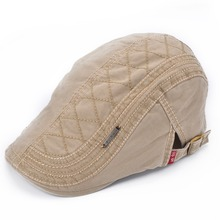 Male Spring Summer Outdoors Pure Cotton Peaked Cap Men Casual Flat Beret