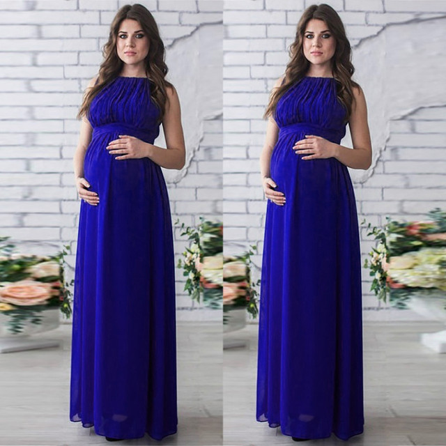 Casual Summer Maternity Dresses in Boho Style 4