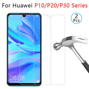 tempered glass phone case for huawei p10 plus p20 pro p30 lite light cover Etui Protective Shell Accessories on p 10 20 30 tremp(China)