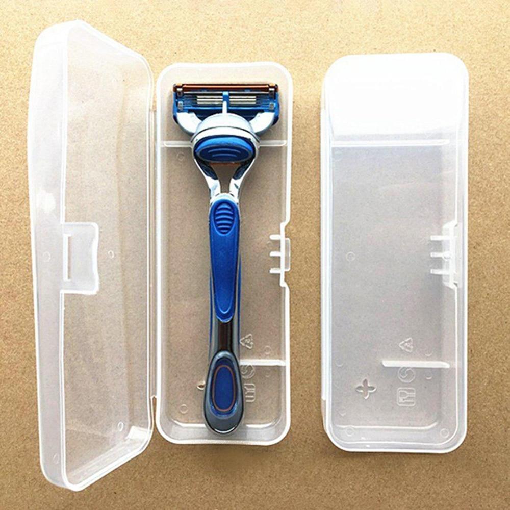 1Pc Portable Travel Men's Razor Case Plastic Razor Blades Storage Box Shaving Machine Container Holder Shaver Box Container