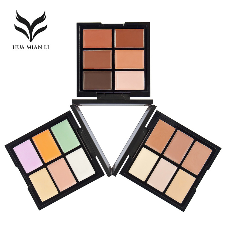 6-color concealer repair dark circles acne Palette Corrector for Face Waterproof Concealer Camouflage Base Foundation Makeup image