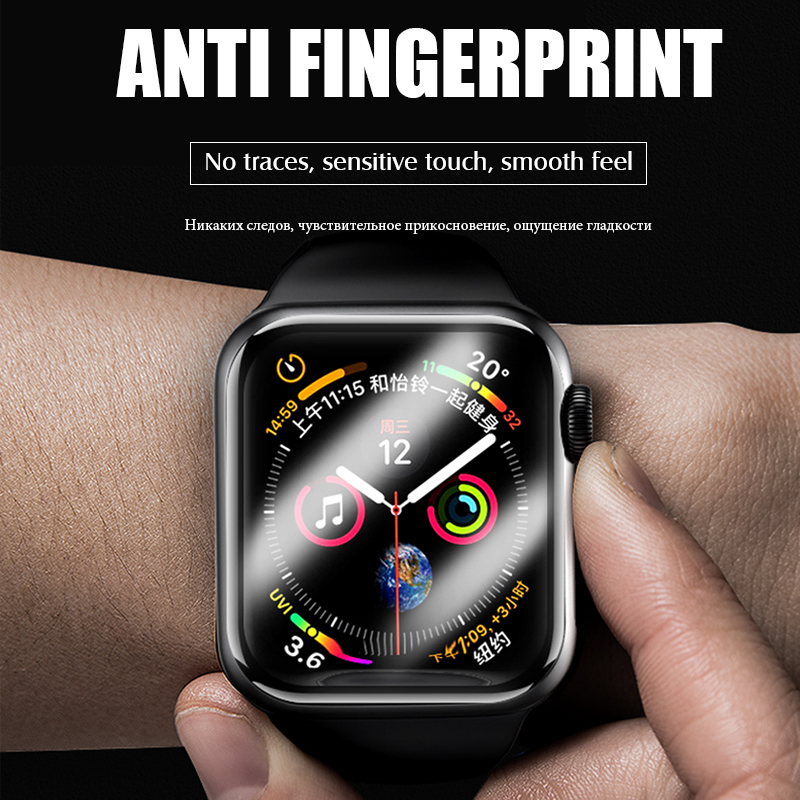 Image 5 - 20D Curved Full Cover Tempered Glass For Apple Watch 1 2 3 4 Screen Protector For Iwatch 38 40 42 44mm Protective Glass Film-in Phone Screen Protectors from Cellphones & Telecommunications
