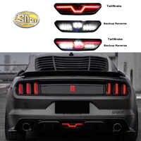 Para 2017 Ford Mustang 2018 Multi-Funciones luz LED trasera de coche luz antiniebla trasera lámpara de luz de marcha atrás, freno Reflector de luz lámpara de advertencia