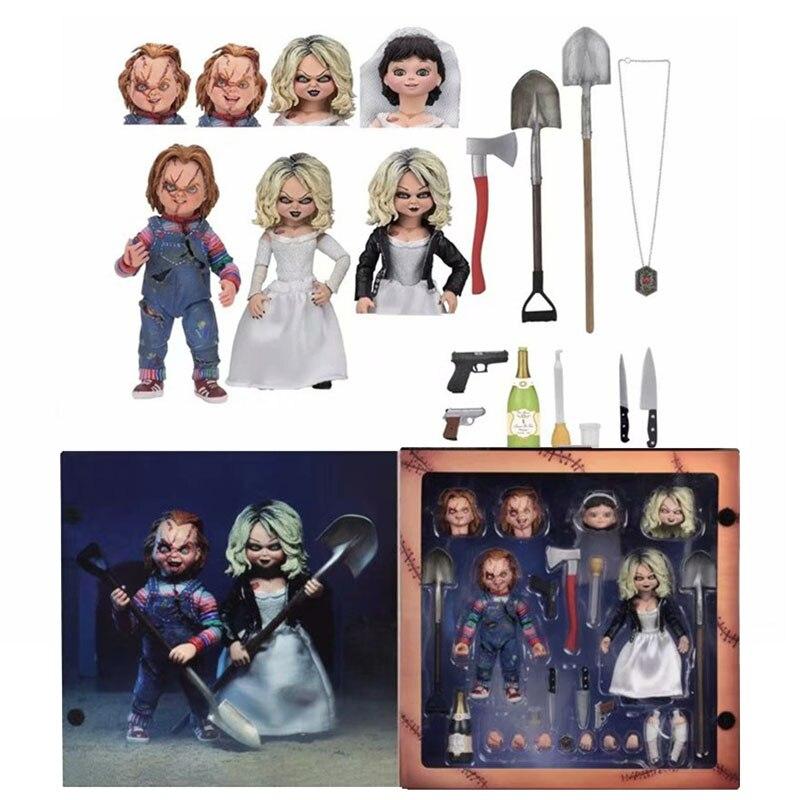 NECA mariée de mandrky ultime mandrky Tiffany mandrky obtient chanceux Double ensemble PVC figurine à collectionner jouets Brinquedos 10CM