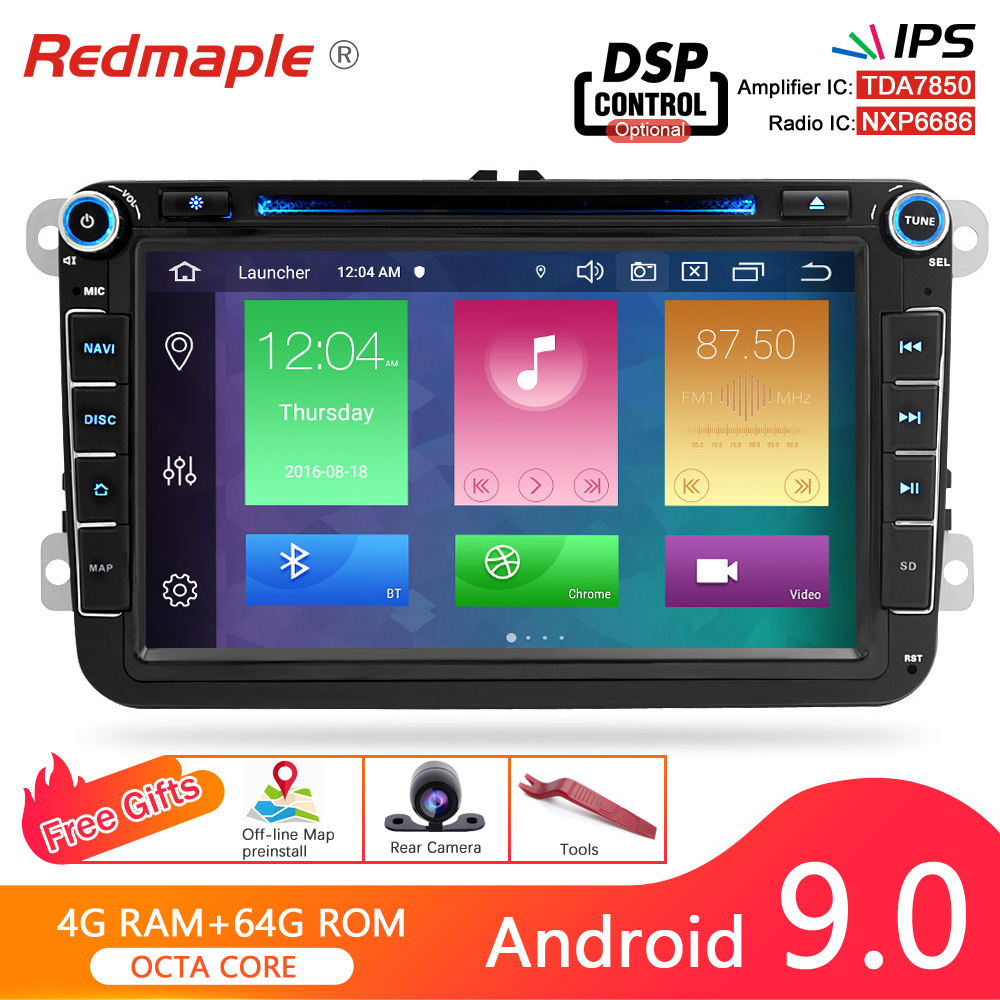 Android 9.0 Car Radio GPS Navigation DVD Player For Volkswagen/Passat b7/Skoda/Seat/<font><b>Golf</b></font>/Polo FM Radio Wifi Stereo Multimedia image