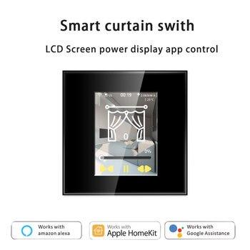 Interruptor de cortina inteligente WIFI con pantalla LCD | Wifi | Apple Homekit