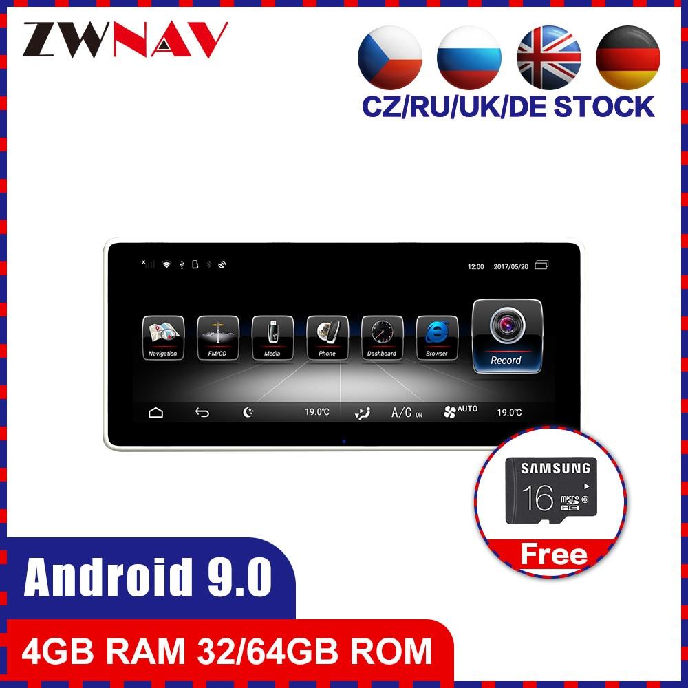 4G + 64G Android 9.0 voiture stéréo lecteur DVD GPS Glonass Navi pour Mecerdes Benz C GLC CLS 2014-2017 Audio multimédia Radio tête uint