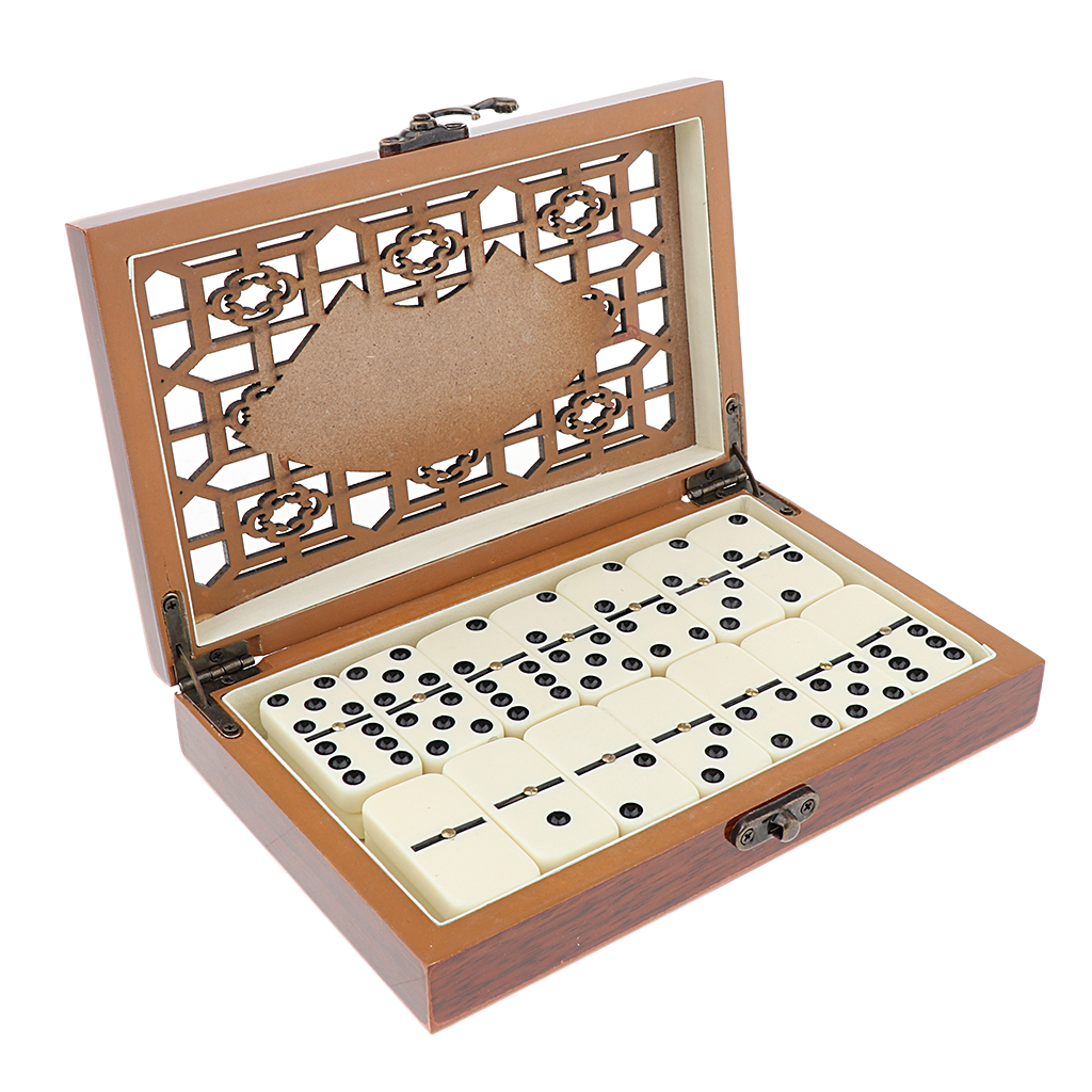 Professional 28X Dominoes Game Set with Storage Carry Case for Friends Gift image