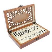Professionelle 28X Dominosteine Spiel Set mit Lagerung Carry Case für Freunde Geschenk
