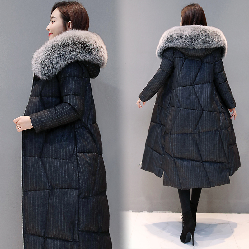 Winter Female Jacket + Large Fox Fur Hooded Clothes 2020 Thick Warm 90% Duck Down Coat Women's Down Jacket Hiver 801113
