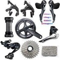 shimano R8000 Groupset Ultegra R8000 Derailleurs Road Bike Groupset 170/172.5/175mm 50 34 52 36 53 39 Bicycle GroupteSet 22Speed