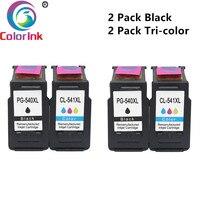 ColoInk PG-540 CL-541 Para Canon pg 540 Cartucho de Tinta para Pixma CL541 PG540 MG4250 MG3250 MG3255 MG3550 MG4100 MG4150 impressora