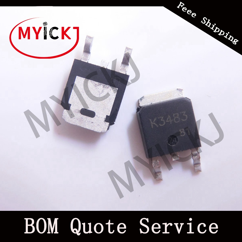 10PCS K3483 TO-252    SWITCHING N-CHANNEL POWER MOSFET IC CHIP