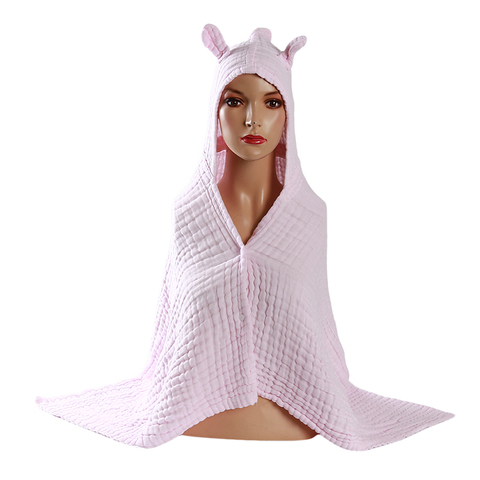 algodao gaze seis camadas roupao manto bebe criancas com capuz toalha de banho envoltorio ultra