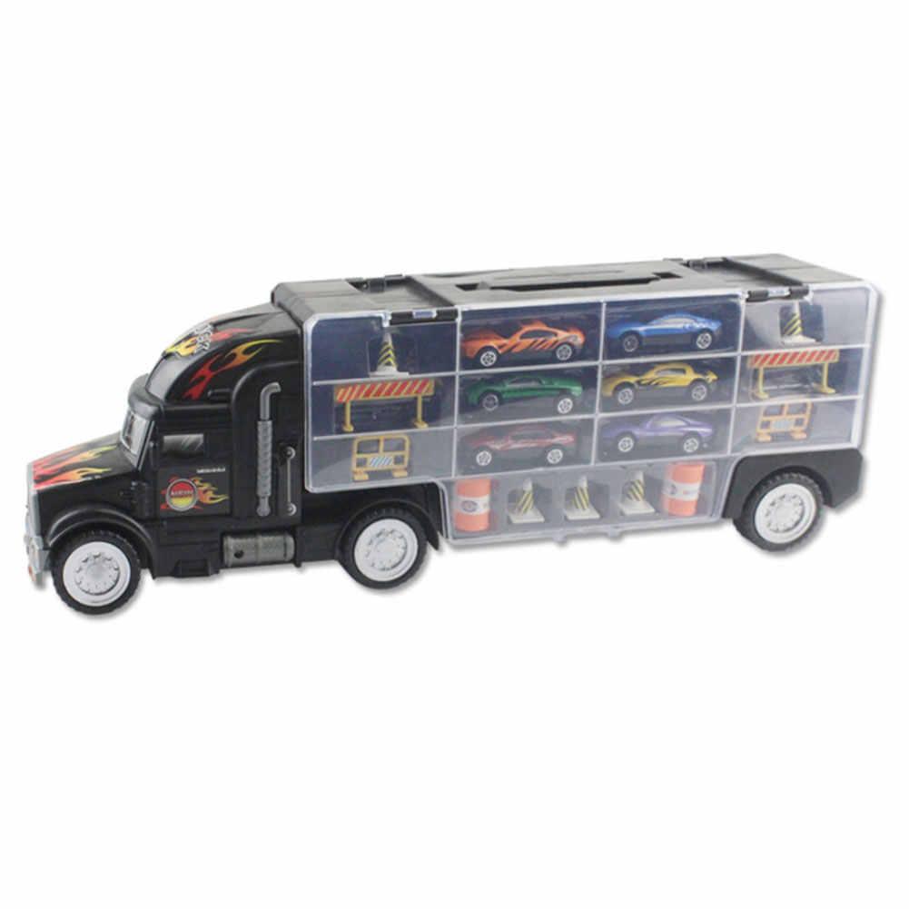 Сплав автомобильный игрушечный гараж автомобиль интерактивный грузовик мини детский подарок контейнер модель автомобиля