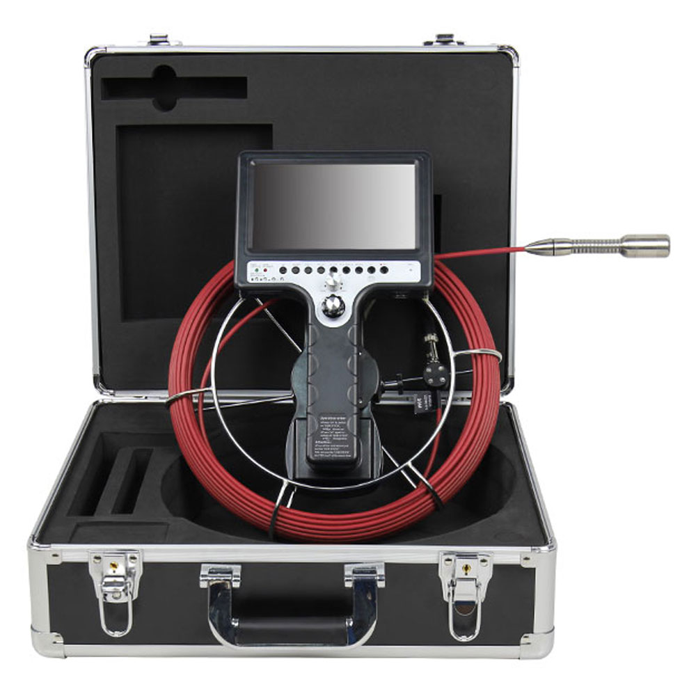 Duct Cleaning Tools Video Snake Pipe&wall Inspection Color Camera System Industrial Videoscope
