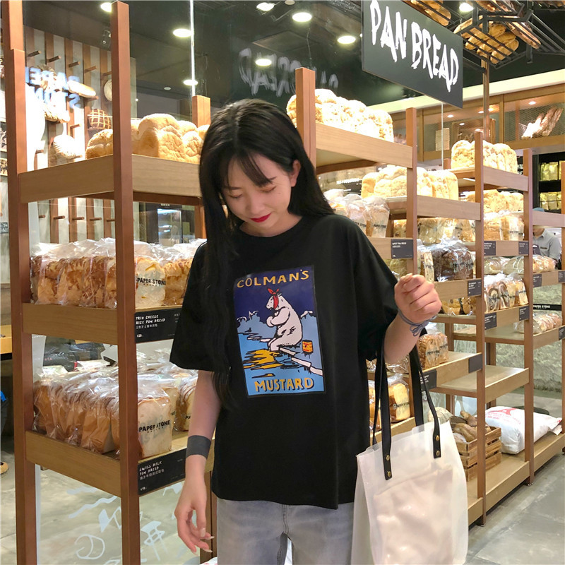 Women Cartoon Printing Leisure High Quality T shirts Womens Lady Summer Tee Top Half Sleeve O Neck All match top tee in T Shirts from Women 39 s Clothing