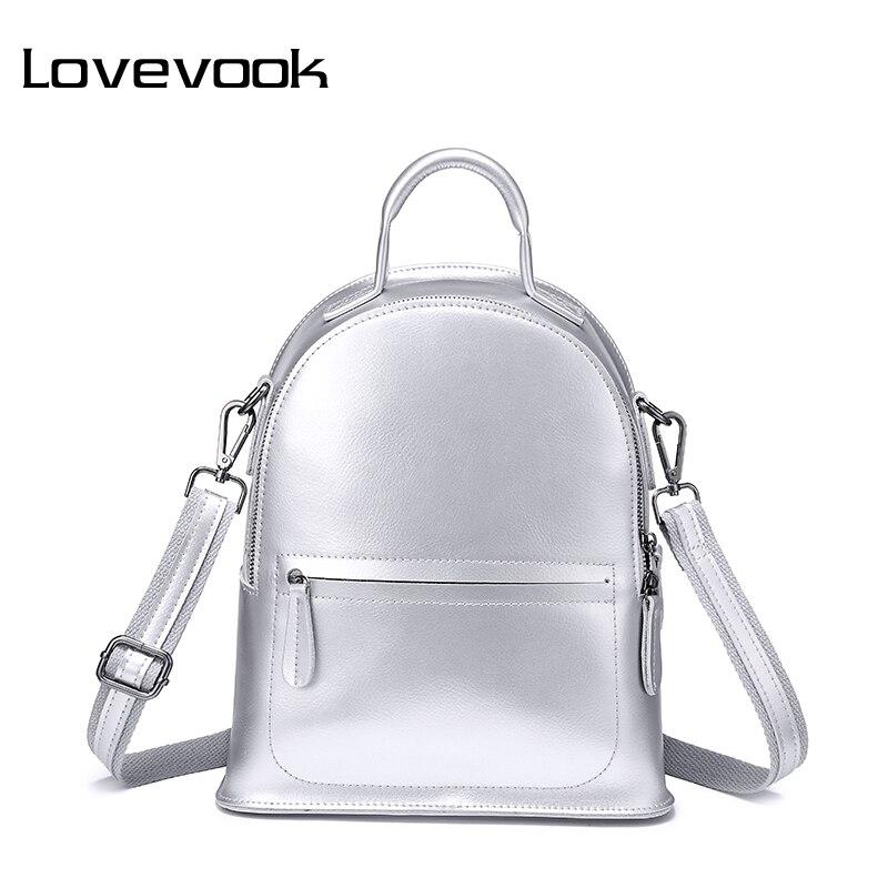 Lovevook mochilas femininas split couro mini mochila saco de escola para meninas adolescentes bolsa de mão feminina pequenos sacos para as mulheres 2019