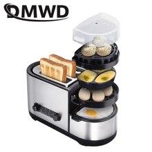DMWD электрический тостер хлеб сэндвич печь мясо гриль для жарения жареный стейк яйцо омлет сковорода еда Пароварка яйца браконьерный котел