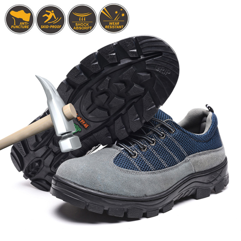 Cheap FZNYL Men Safety Shoes Women Resistant Anti-smashing Stab-resistant Work Boots Unisex Comfortable Steel Toe Footwear