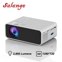 Salange HD Mini Projector P48 Native 1280x720P LED WiFi Android Projector Video Home Cinema 3D HDMI Movie Game Proyector