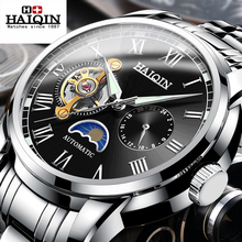HAIQIN Mens Watches Top Brand Luxury Wrist Watch Mechanical Watches For Men Automatic Business Watch Men Reloj Hombre Tourbillon цены