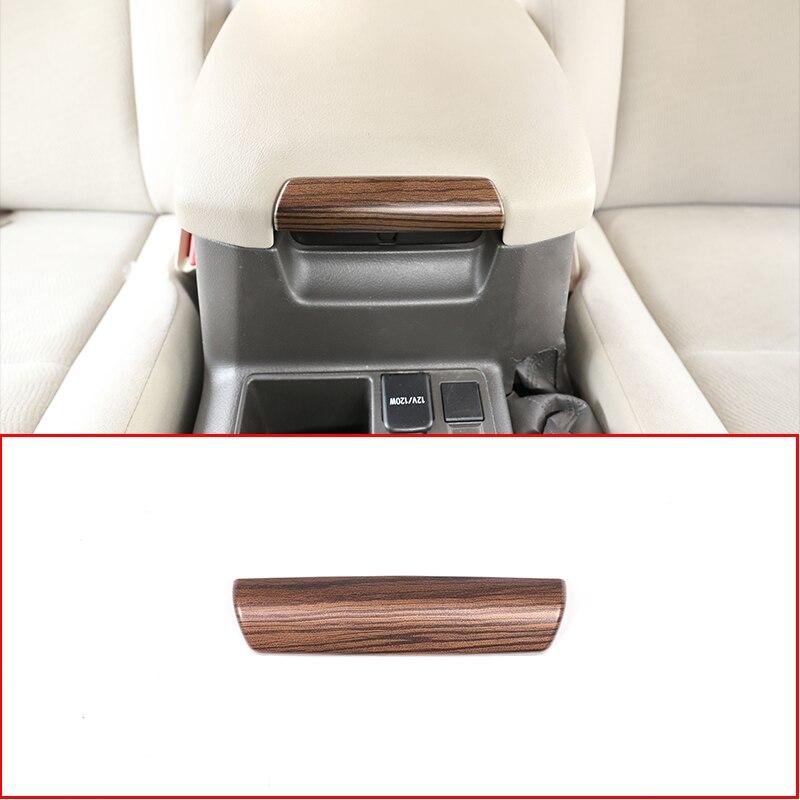 Reposabrazos de madera de pino para Interior de ABS de coche, accesorios embellecedores de lentejuelas para Toyota Land Cruiser Prado FJ150 150 2006-2011