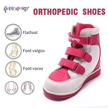 Zapatos ortopédicos Princepard de cuero genuino para niños, botas de invierno para niñas y niños