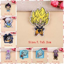 DIY Anime Dragon Ball Goku Patch Stich Bages Eisen Auf Patches Für Kleidung Bestickt Patches Für Kleidung Nette Aufkleber Bekleidungs(China)