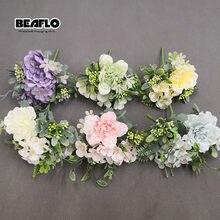 1 Bouquet Camellia Artificial Peony Rose Flowers Silk Fake flores Wedding Flower DIY Home Garden Party Office Decoration